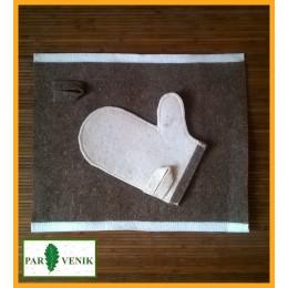 Банная рукавица (белая)