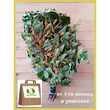 Банный веник липовый стандартный , в  упаковке,  от 1 до 6 штук, от 165 до 150 рублей
