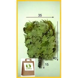 Веник дубовый отборный с эвкалиптом 2020 года в упаковке, от 1 до 10 штук, цена от 255 до 225 рублей